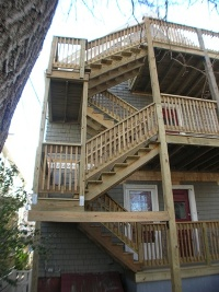 triple decker deck kevco construction